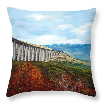 Abruzzo Italian Countryside  Throw Pillow