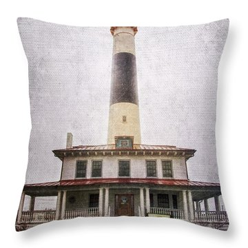 Absecon Lighthouse Throw Pillow