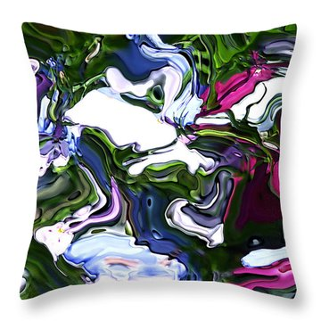 Throw Pillow featuring the digital art Absent by Richard Thomas
