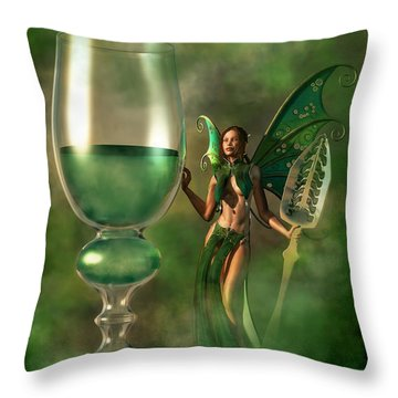 Absinthe Throw Pillow