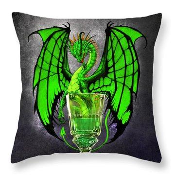 Absinthe Dragon Throw Pillow