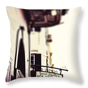 Throw Pillow featuring the photograph Absinthe House by Heather Green