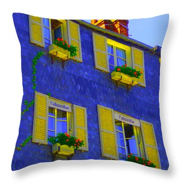 Throw Pillow featuring the photograph Absinthe In Blue by Ann Johndro-Collins