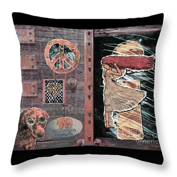 Absinthe Night In Brussels Throw Pillow