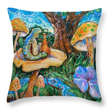 Absolem From Wonderland Throw Pillow