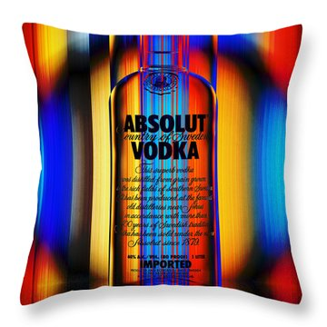Absolut Abstract Throw Pillow
