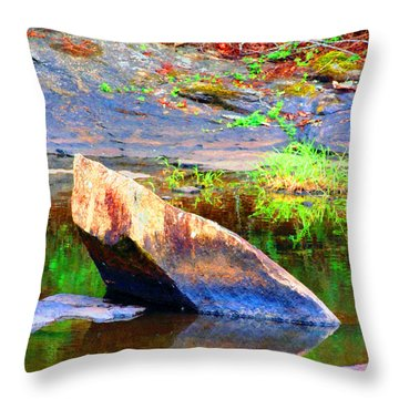 Abstact Rock				 Throw Pillow