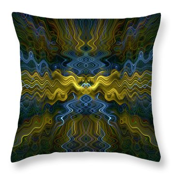 Abstract 0036 Throw Pillow