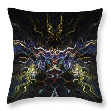 Abstract 0041 Throw Pillow