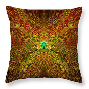 Abstract 0050 Throw Pillow