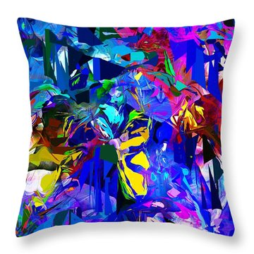 Abstract 010215 Throw Pillow by David Lane