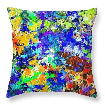 Abstract 010414 Throw Pillow