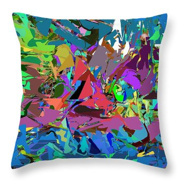 Throw Pillow featuring the digital art Abstract 011515 by David Lane