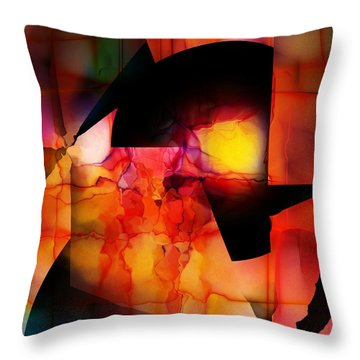 Throw Pillow featuring the digital art Abstract 012615 by David Lane