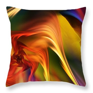 Abstract 031814 Throw Pillow