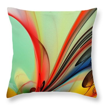 Abstract 040713 Throw Pillow
