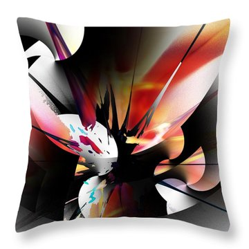 Throw Pillow featuring the digital art Abstract 082214 by David Lane