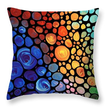 Primary Colors Throw Pillows