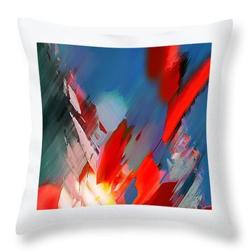 Abstract 11 Throw Pillow by Anil Nene