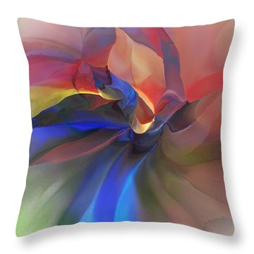 Throw Pillow featuring the digital art Abstract 121214 by David Lane