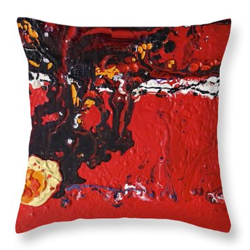 Abstract 13 - Dragons Throw Pillow by Mario Perron