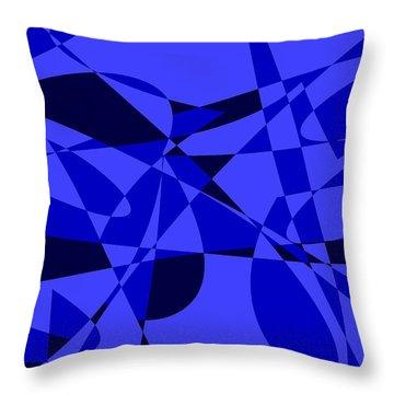 Abstract 153 Throw Pillow by J D Owen