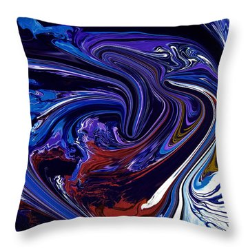 Abstract 170 Throw Pillow by J D Owen