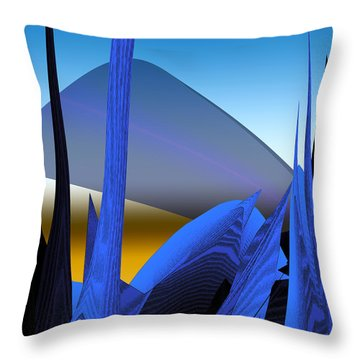 Abstract 200 Throw Pillow by Gerlinde Keating - Galleria GK Keating Associates Inc