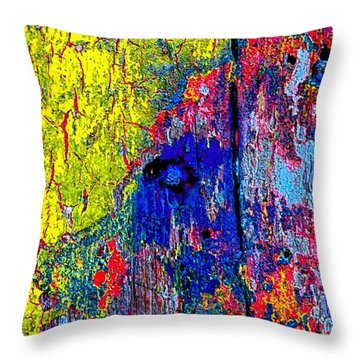 Abstract 201 Throw Pillow by Nicola Fiscarelli