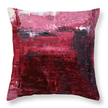 Throw Pillow featuring the painting Abstract 2014 01 by Becky Kim