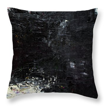 Throw Pillow featuring the painting Abstract 2014 02 by Becky Kim