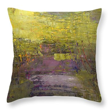 Throw Pillow featuring the painting Abstract 2014 03 by Becky Kim