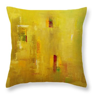 Throw Pillow featuring the painting Abstract 2015 01 by Becky Kim