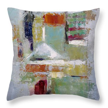 Throw Pillow featuring the painting Abstract 2015 02 by Becky Kim