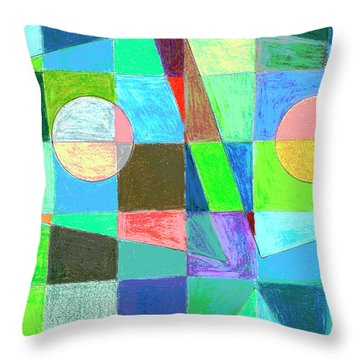 Throw Pillow featuring the drawing Abstract 3 by Mary Bedy