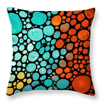Mosaic Art - Abstract 3 - By Sharon Cummings Throw Pillow