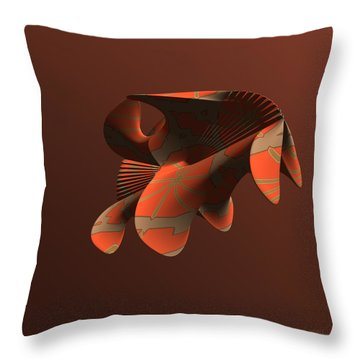 Abstract 351 Throw Pillow