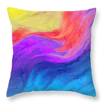 Abstract 37 Throw Pillow by Kenny Francis