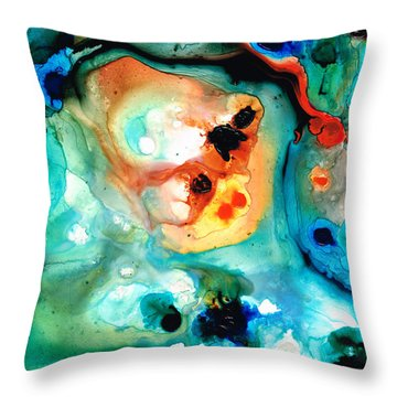 Abstract 5 - Abstract Art By Sharon Cummings Throw Pillow by Sharon Cummings