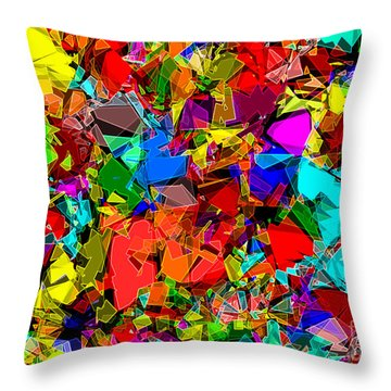 Throw Pillow featuring the digital art Astratto - Abstract 50 by ZeDi