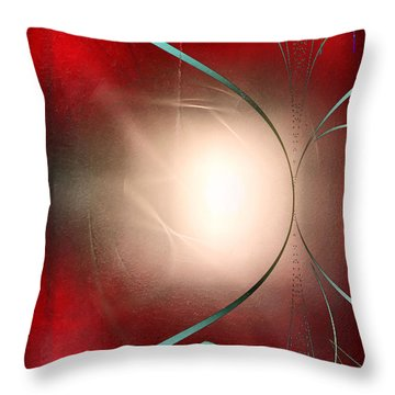 Abstract 550 Throw Pillow by John Krakora
