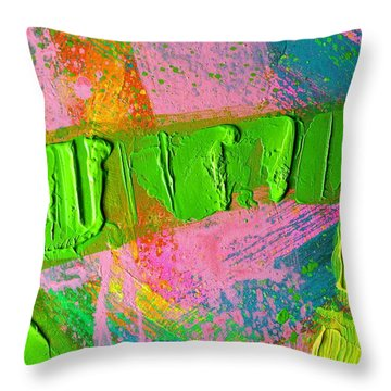 abstract 6814 Diptych Cropped XIV Throw Pillow by John  Nolan