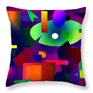 Abstract 74 Throw Pillow by Timothy Bulone