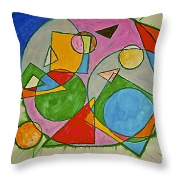 Abstract 89-001 Throw Pillow