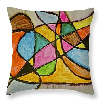 Abstract 89-002 Throw Pillow