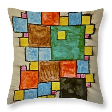 Abstract 89-003 Throw Pillow