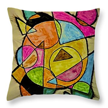Abstract 89-004 Throw Pillow