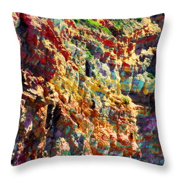 Throw Pillow featuring the photograph Abstract 91 by Timothy Bulone
