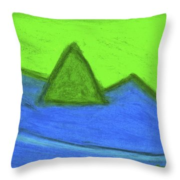 Abstract 92-001 Throw Pillow