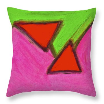 Abstract 92-002 Throw Pillow